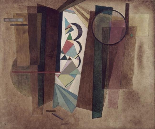 Vassily Kandinsky. Développement en brun (Desarrollo en marrón), 1933. Óleo sobre lienzo – 101 x 120,5 cm. Adquisición, 1959 – Cortesía del Centre Pompidou Málaga