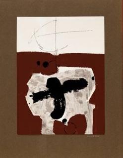 Manolo Millares —Cortesía del Real Academia de Bellas Artes de San Fernando