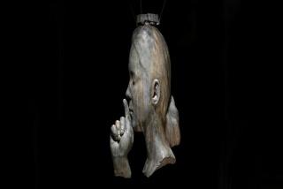 Jaume Plensa. Minna's Words, 2018, sculpture in bronze, Ed. of 2, 192 x 49 x 85 cm. Photo credits: Gasull Fotografia © Plensa Studio Barcelona — Cortesía de Galerie Lelong & Co.