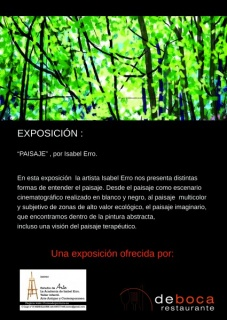 Exposicion PAISAJE isabel Erro