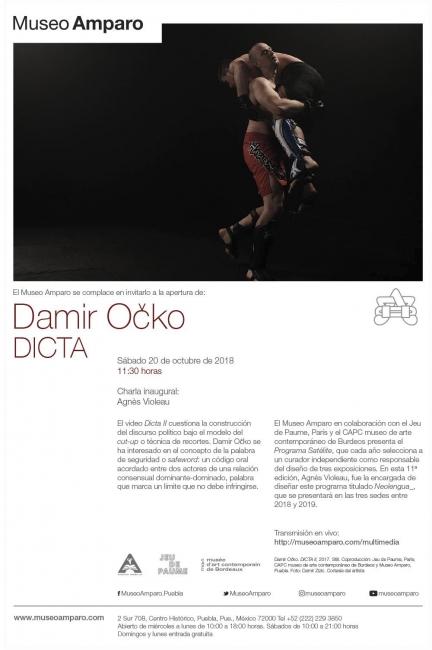 Damir O?ko. Dicta. Imagen cortesía  Museo Amparo