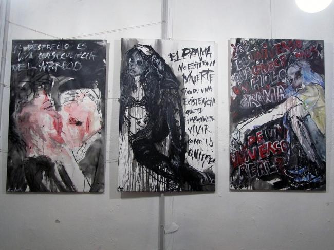Tres cuadros de la exposición Reinas del Punk