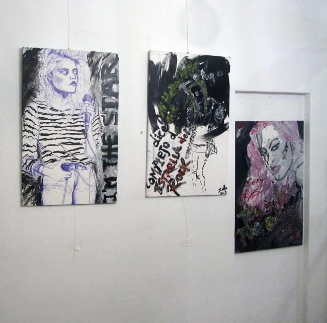 Vista de la exposición Reinas del Punk