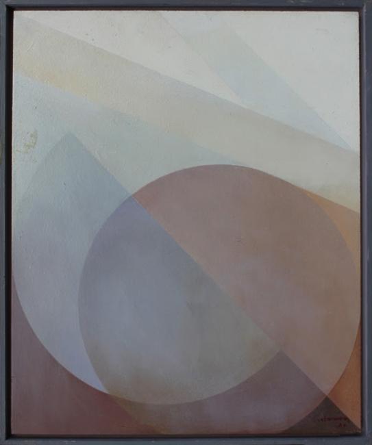 Salvador Victoria, Sin título, 1981. Óleo/tabla — Cortesía de la galería Tiempos Modernos