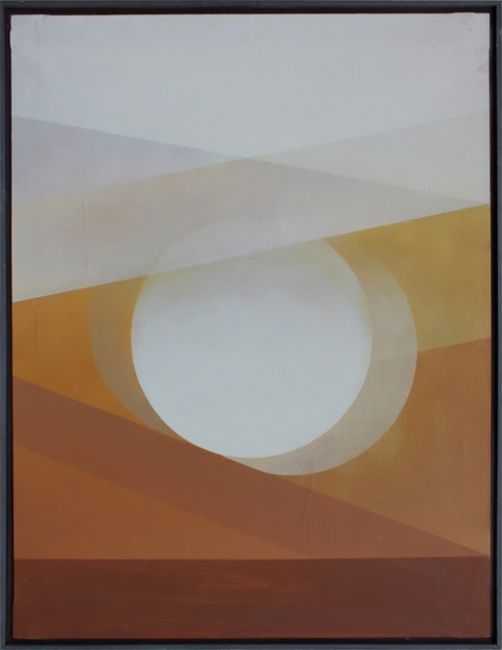 Salvador Victoria, Ocres y blancos, 1977. Óleo/lienzo — Cortesía de la galería Tiempos Modernos