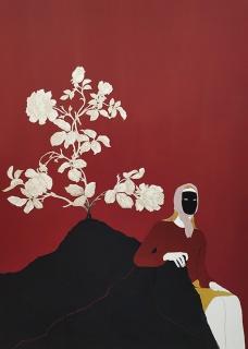 Estefanía Martín Sáenz, Espera y veras, 2019. Mixta sobre papel. 50 x 35 cm. — Cortesía de la Galería Gema Llamazares