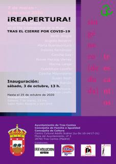 Nuevo cartel de la re-apertura de la exposición