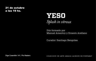 Yeso. Splash in vitraux
