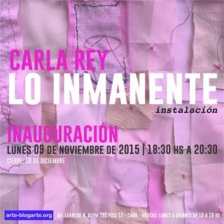 Carla Rey, Lo Inmanente