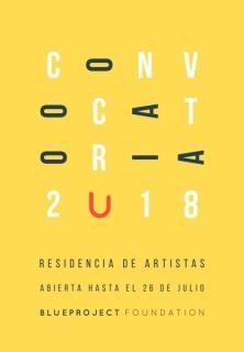 Convocatoria de Residencia de Artistas Blueproject - 2018