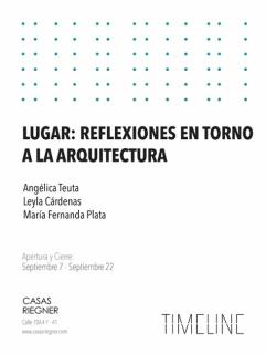 LUGAR: REFLEXIÓN EN TORNO A LA ARQUITECTURA