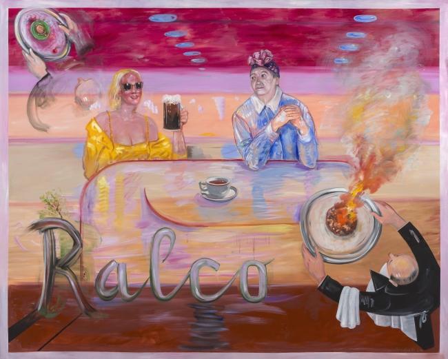 Juan Da?vila, Ralco, 2016. Óleo sobre tela, 200 x 250 cm. Cortesi?a del artista y Kalli Rolfe Contemporary Art, Melbourne