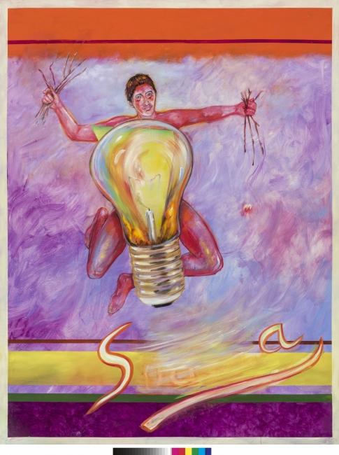 Juan Dávila, Sudaca, 2017. Óleo sobre lienzo. 255 x 200 cm. Cortesi?a del artista y Kalli Rolfe Contemporary Art, Melbourne