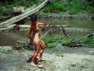 Ana Mendieta, film still from Blood Inside Outside, 1975. Cortesía de la Galerie Lelong & Co vía nota de prensa el 20/03/04