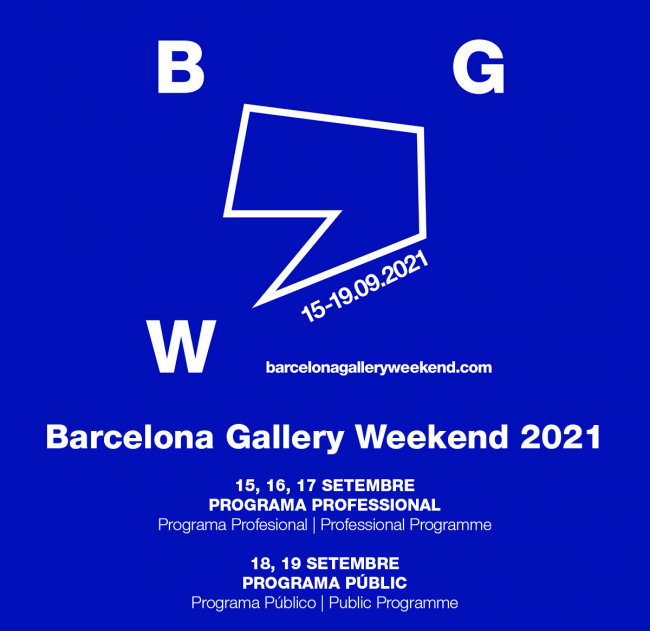 Barcelona Gallery Weekend 2021, Festival de arte, sep 2021   ARTEINFORMADO