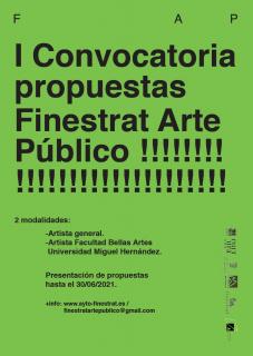 I Convocatoria Finestrat Arte Público