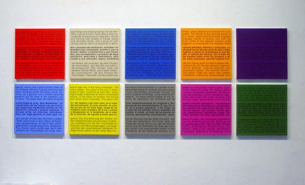 Ignasi Aballí, Carta de colors (Teoria) I, 2008