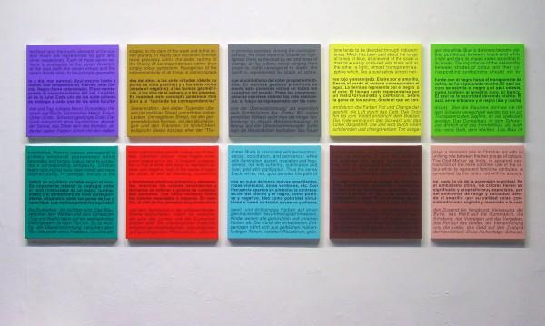 Ignasi Aballí, Carta de colors (Teoria) II, 2008
