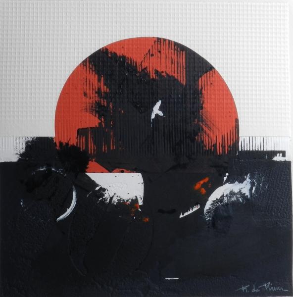 Obra original sobre papel realizada en técnica mixta de collage-troquel. 76x76 cm.