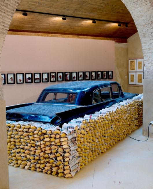Wolf Vostell, Energía, 1973. Colección Fluxus-Donación Gino Di Maggio. Museo Vostell Malpartida. Junta de Extremadura — Cortesía del MUSAC