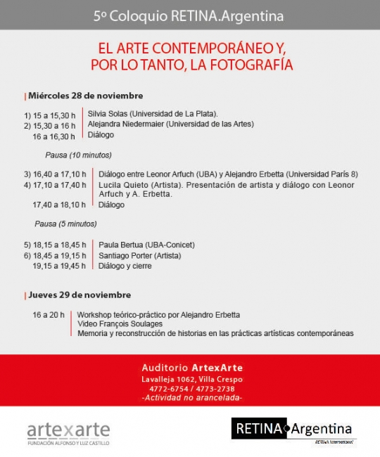 El arte contemporáneo y, por lo tanto, la fotografía. Imagen cortesía ArtexArte   Fundación Alfonso y Luz Castillo