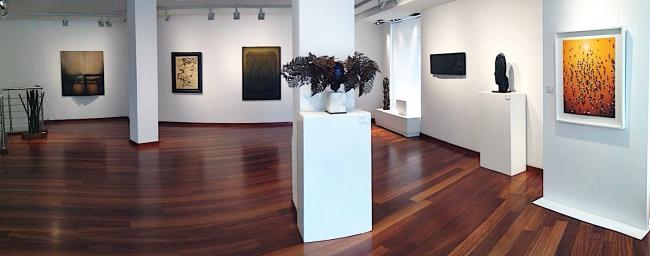 Vista de la exposición «Grandes Maestros» — Cortesía de Aurora Vigil-Escalera Galería de Arte