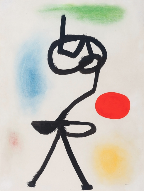 Joan Miró, Figure devant le soleil, 1942, cortesía Galería Guillermo de Osma