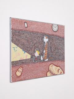 Christian Camacho,  'El camino a través', 2021. Óleo sobre tela, 40 cm. x 50 cm. — Cortesía de arróniz arte contemporáneo