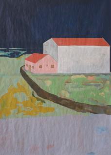 """Pedro Sequeira © """"Sem título"""", 2021, óleo s/papel, 140x100 cm. — Cortesía de Ocupart I Arte em Espaços Improváveis"""