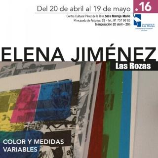 Elena Jiménez, Color y medidas variables