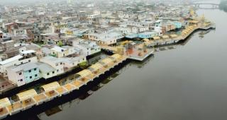 Imagen aérea del Malecón Salado Guayaquil, Ecuador. Fotografía cortesía del Municipio de Guayaquil