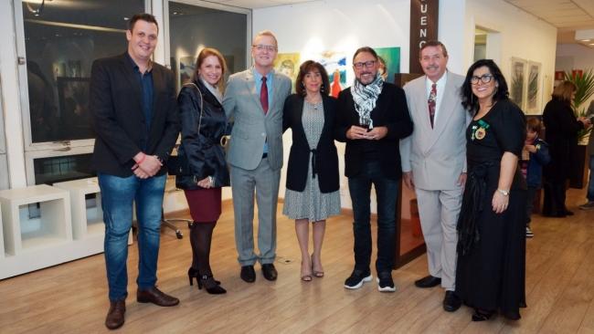 Vereador Sidney Pascotto, Carla Mourão, Pedro Simoneti e Walter Cover