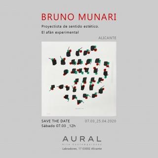 "Flyer invitación Bruno Munari. Obra ""Sequenze cinetiche""1992"