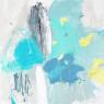 NARCISOS 90 x 90 cm., mixta sobre lienzo