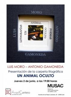 """Presentación de carpeta litográfica \""""Un Animal oculto\"""""""