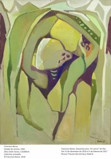 Francisco Bores, Paisaje de verano, 1965. Óleo sobre lienzo, 116 x 89 cm. Colección privada
