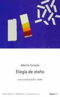 Alberto Corazón, Elegía de otoño