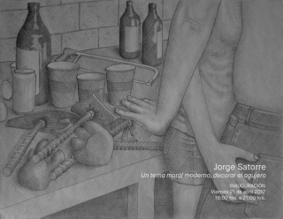 Jorge Satorre. Un tema moral moderno, decorar el agujero