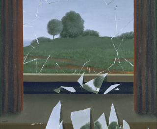 René Magritte, La Clef des champs (detalle), 1936. Museo Nacional Thyssen-Bornemisza — Cortesía del Museo Nacional Thyssen-Bornemisza