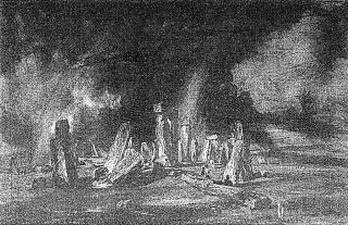 Manuel A. Fernández & Nicolás Martella. 145 (Stonehenge), 2021. Escaneo e impresión inkjet. 100 x 155 cm. — Cortesía de Meridiano (Cámara Argentina de Galerías de Arte)