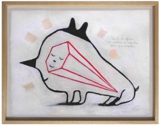 Cristian Turdera, Obra de El Topo Ilustrado de su exposición en Galería Mar Dulce