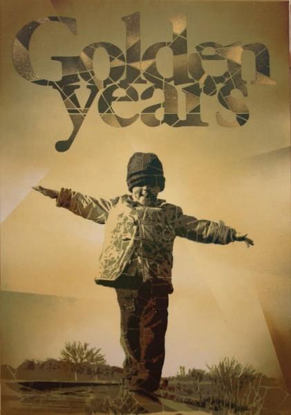 Roc Blackblock Golden. Years, 2014. Stencils y Spray sobre Tela. 81 x 54 cm.