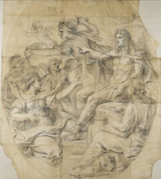 Charles Le Brun, El orden de las finanzas restablecido. Museo del Louvre. © RMN-Grand Palais / Photo G. Blot