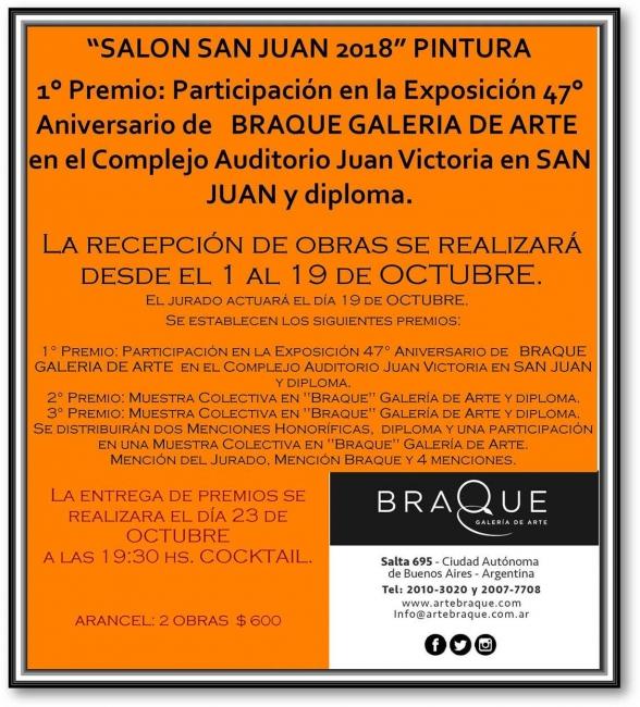 Salón San Juan 2018. Imagen cortesía Braque Galeria de Arte
