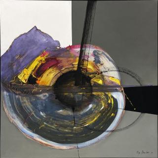 OLGA SINCLAIR, 2019,  Centro del universo, Acrylic and oil on linen, 59 x 59 In.  [150 x 150 Cm.]