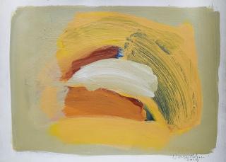 Santiago Uribe-Holguin, Shapes and Shades No.11 , 2020, oil on paper, 30 x 40 cm. — Cortesía de Beatriz Esguerra Art