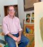 Santiago Uribe-Holguin, Shapes and Shades No. 43 , 2020, oil on paper, 34 x 50 cm. — Cortesía de Beatriz Esguerra Art