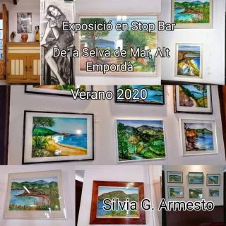 CARTEL DE LA EXPOSICIÓN INDIVIDUAL SILVIA G. ARMESTO