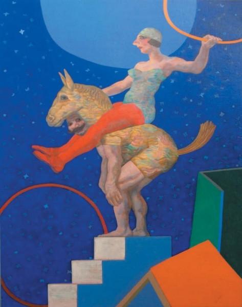 Manuel Alcorlo, Jineta en el circo
