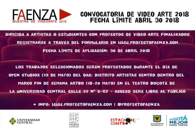 CONVOCATORIA VIDEO ARTE FAENZA 2018